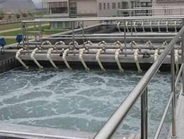 玻璃厂废水处理现场